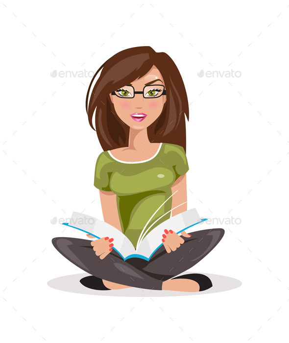 Reading Girl - People Characters