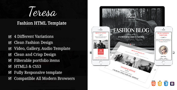 Teresa A One And Multi Page Fashion HTML Template