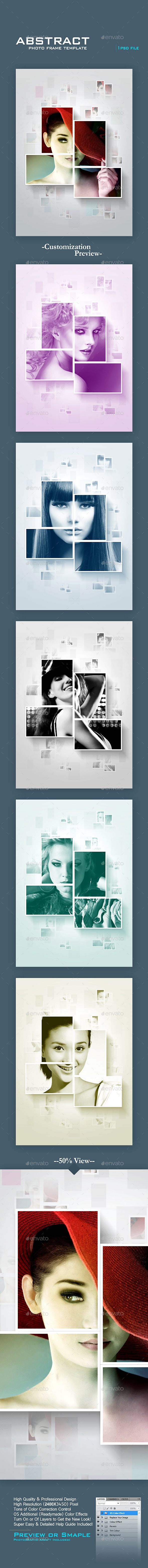 Abstract Photo Frame Template - Photo Templates Graphics