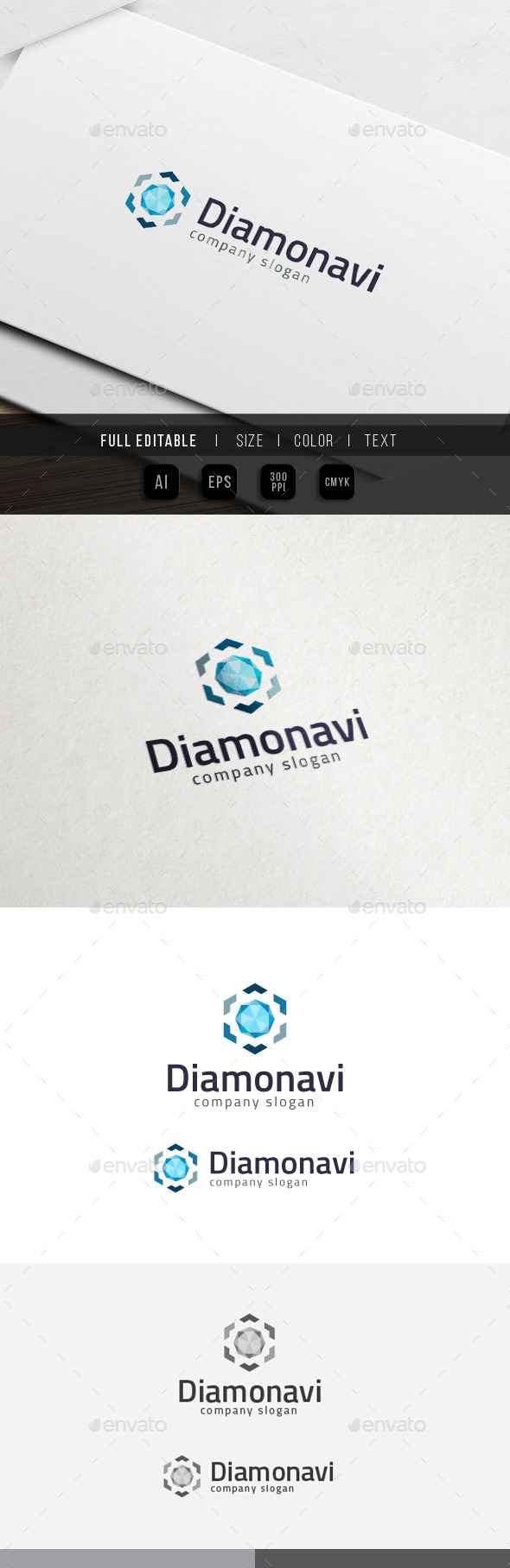 Diamond Navigation - Jewel Store Logo - Objects Logo Templates