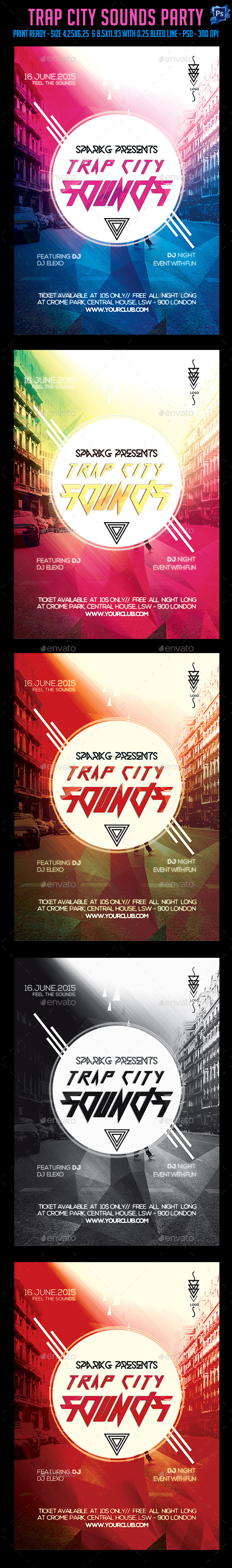 Trap City Sounds Flyer - Clubs & Parties Events