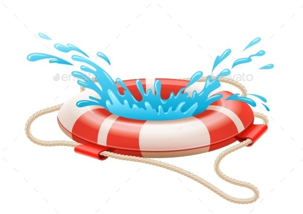 Life Buoy For Drowning Rescue on Water - Concepts Business