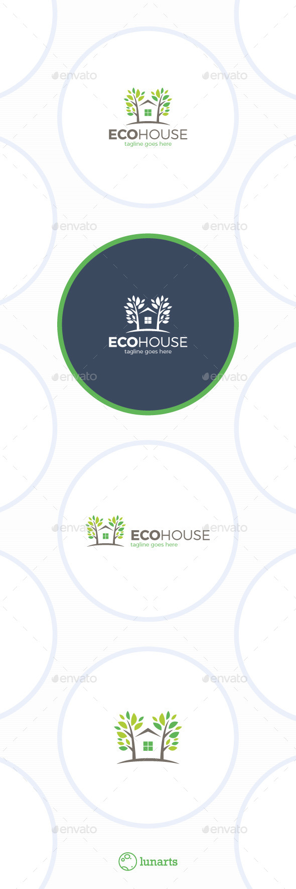 Eco House Logo - Tree Home - Nature Logo Templates