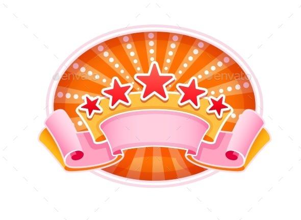 Emblem Logo FOr Show Circus Or Casino - Web Elements Vectors