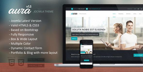 Aura – Responsive Multipurpose Joomla Template