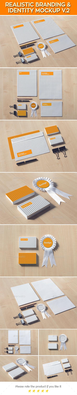 Realistic Branding & Identity Design Mock-up - Stationery Print