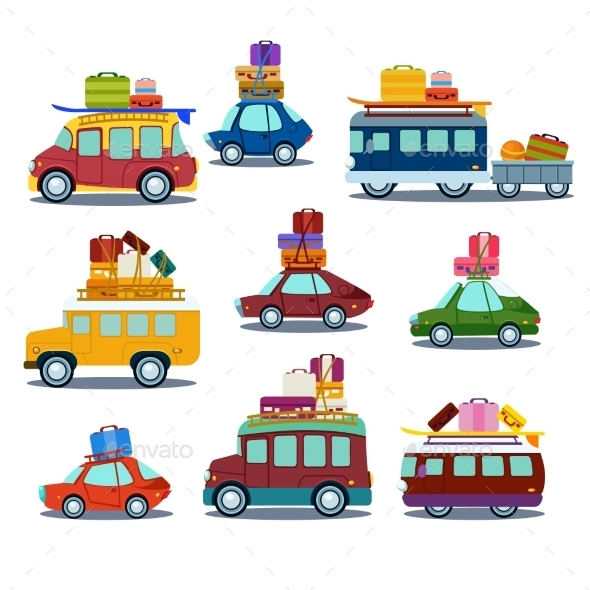 Cars To Travel - Objects Vectors