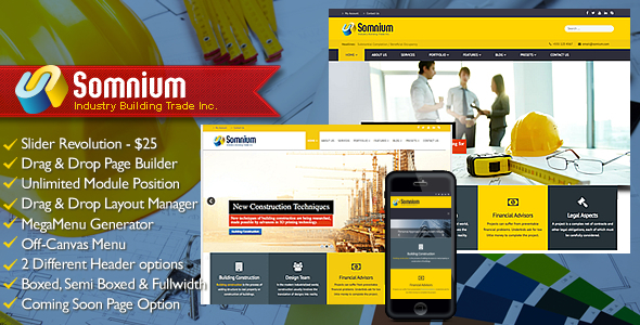 Somnium – Building Business Joomla Template