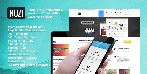 Nuzi – Multipurpose, Retina Ready, Business Theme