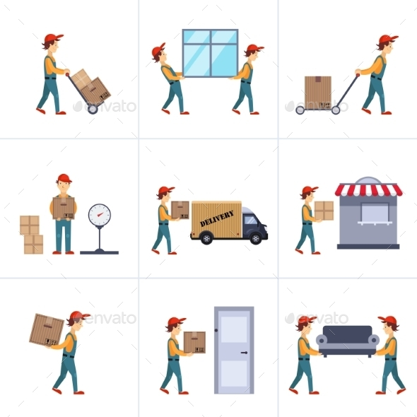 Delivery Person Freight Logistic Business Service - People Characters
