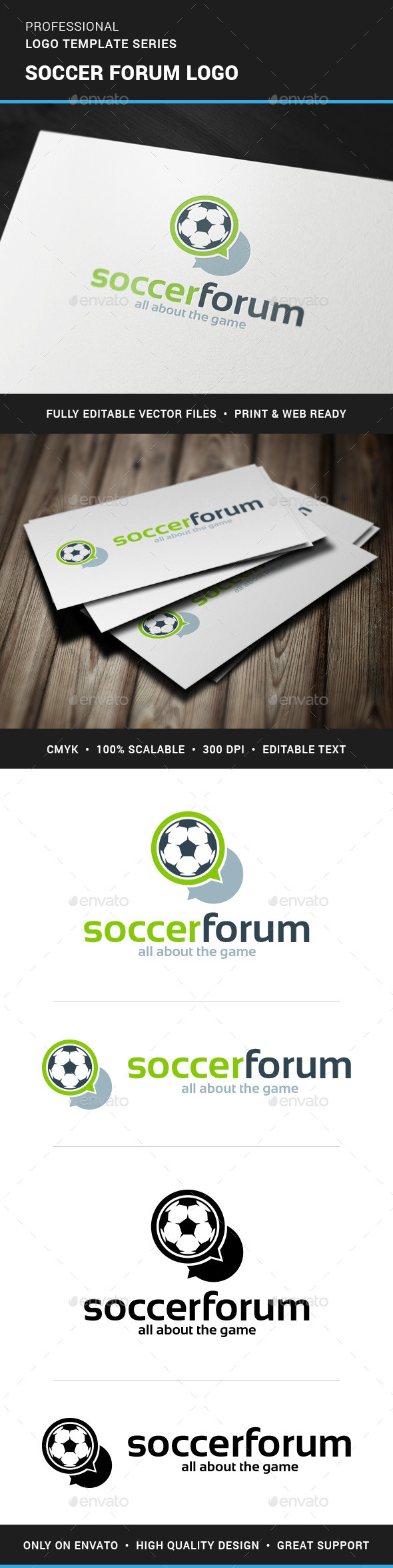 Soccer Forum Logo Template - Objects Logo Templates