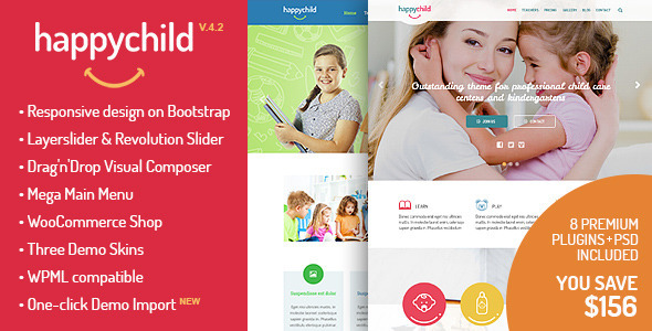 HappyChild – Kindergarten WordPress Theme