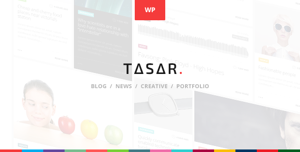 TASAR - Creative Portfolio & Frontend Blog Publish