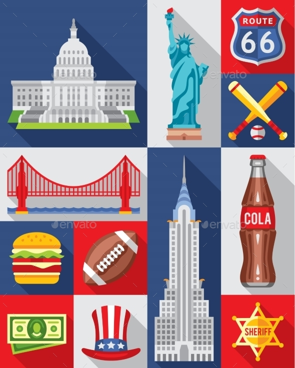 Vector Set Of New York City  - Miscellaneous Vectors