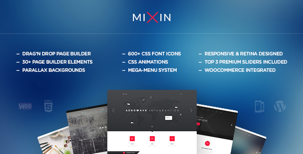 Mixin – Infographic & Multi-Purpose Theme