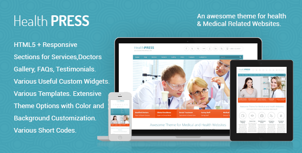HealthPress - Health and Medical WordPress Theme