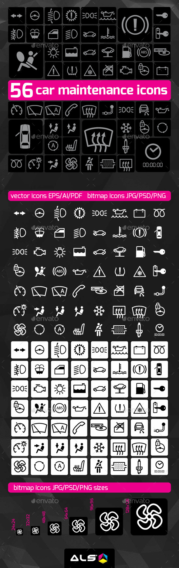 Car maintenance icons - Technology Icons