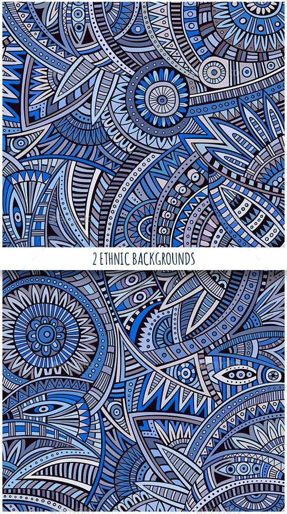 2 Ethnic Tribal Backgrounds - Backgrounds Decorative