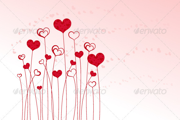 Heart Field - Decorative Vectors