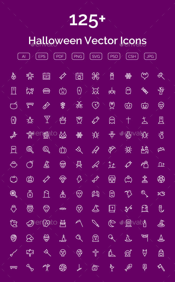 125+ Halloween Vector Icons - Seasonal Icons