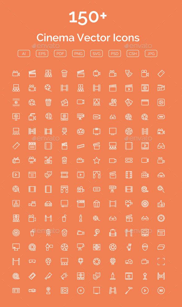 150+ Cinema Vector Icons - Icons