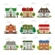 Cute Houses In Flat Style - GraphicRiver Item for Sale
