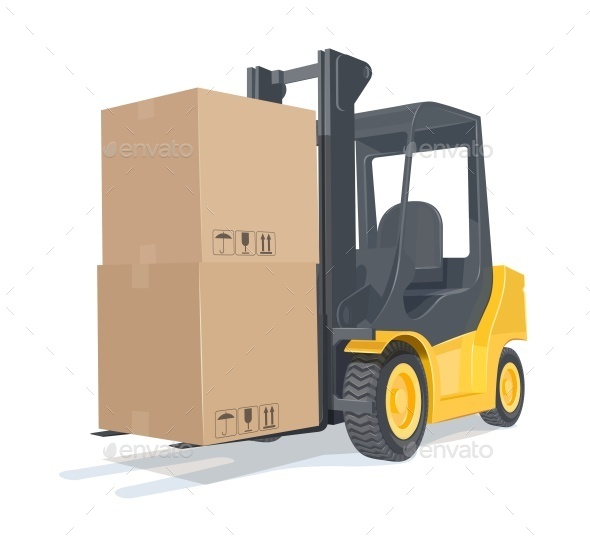Loader Car with Boxes - Industries Business
