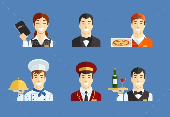 Restaurant Service - People Characters
