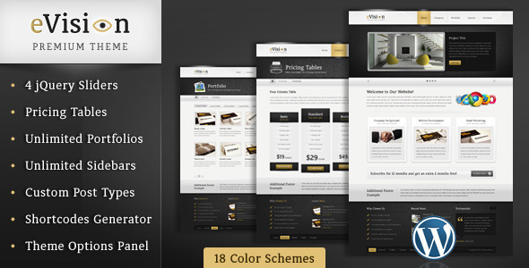 eVision – Blog and Portfolio WordPress Theme