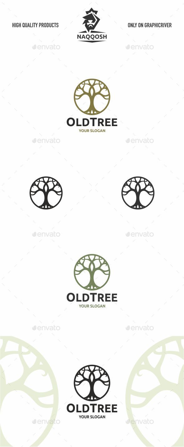 Old Tree - Symbols Logo Templates