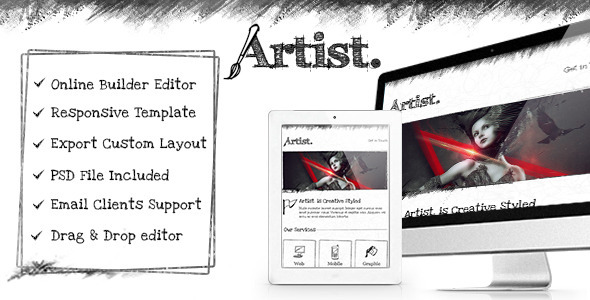 Artist – Responsive Email Template + Builder Access