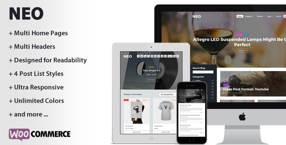 NEO – A Modern Personal WordPress Theme