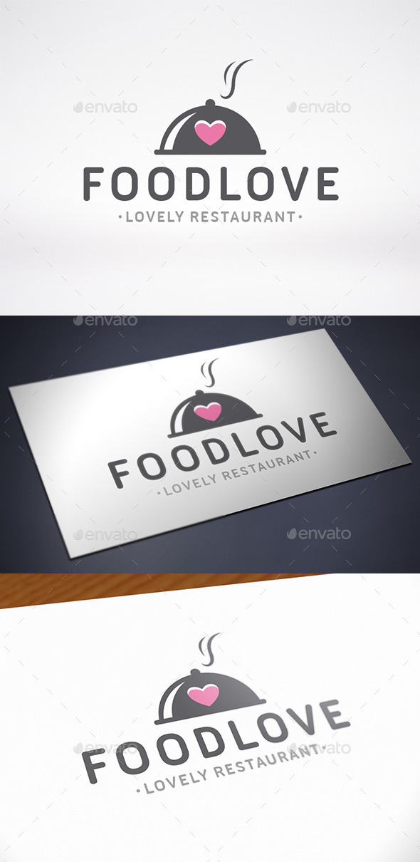 Food Love Logo Template - Objects Logo Templates