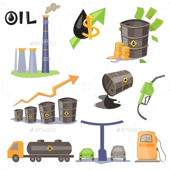Oil Production Infographic Elements Vector - Miscellaneous Vectors