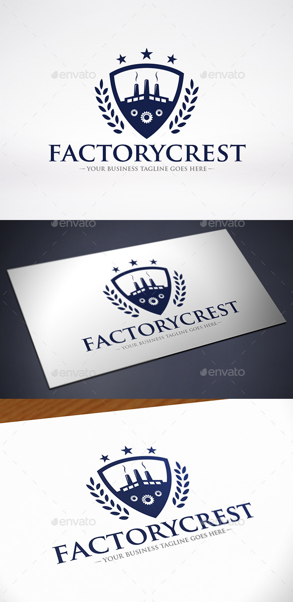 Factory Crest Logo Template - Crests Logo Templates