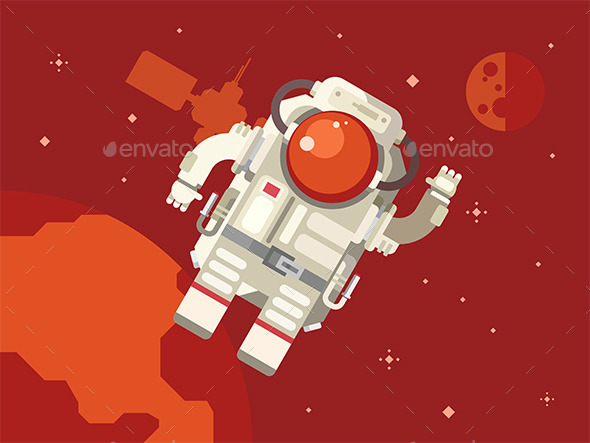 Astronaut in Outer Space - Travel Conceptual