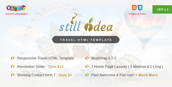 Stillidea - Travel, Clean HTML Template - Travel Retail