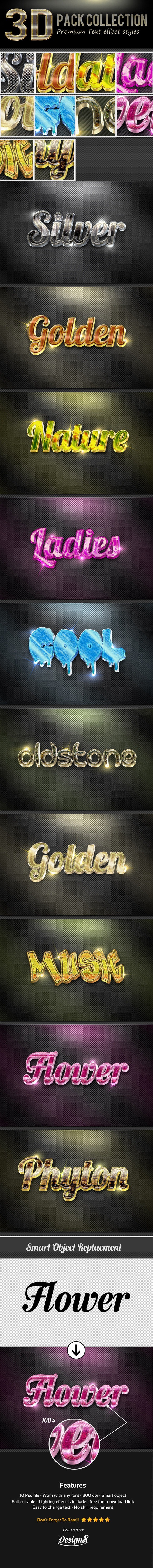 New 3D Photoshop Text Effect Style - Text Effects Styles