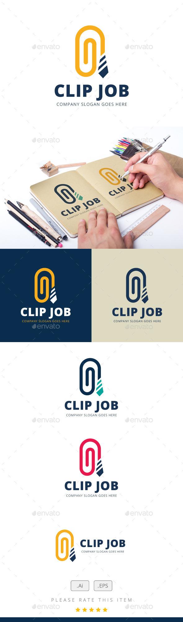 Clip Job Logo - Logo Templates
