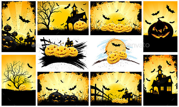 Halloween Backgrounds Party Set - Halloween Seasons/Holidays