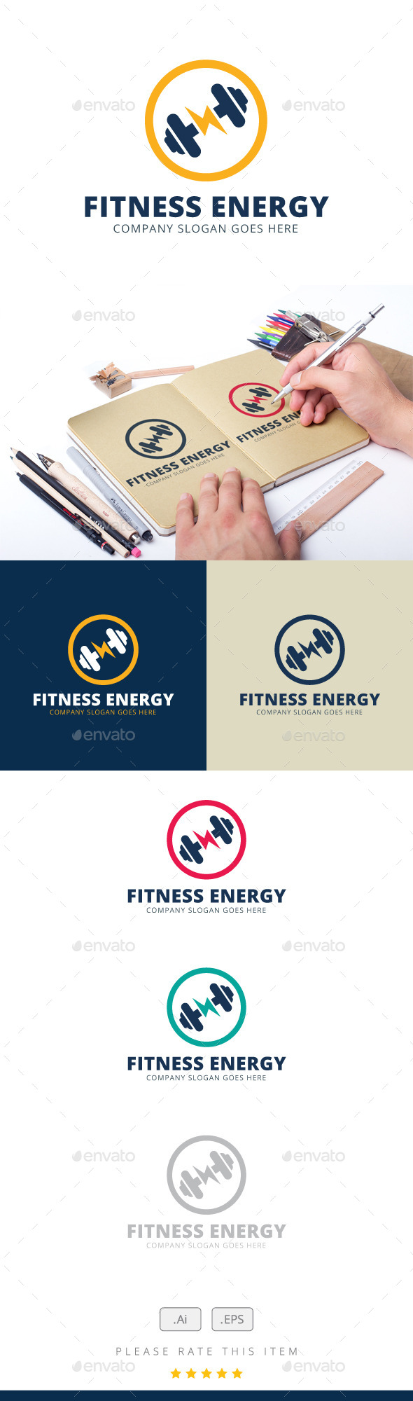 Fitness Energy Logo - Logo Templates