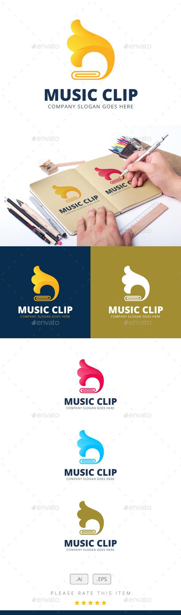 Music Clip Logo - Logo Templates