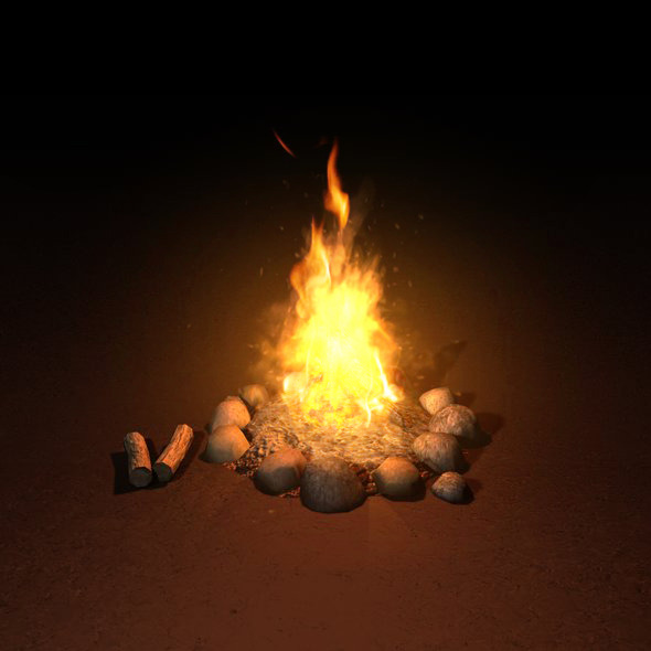 Campfire Low Poly By Lucky Fingers 3docean