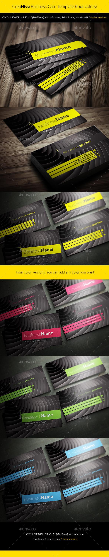 CreaHive Business Card four colors - Creative Business Cards