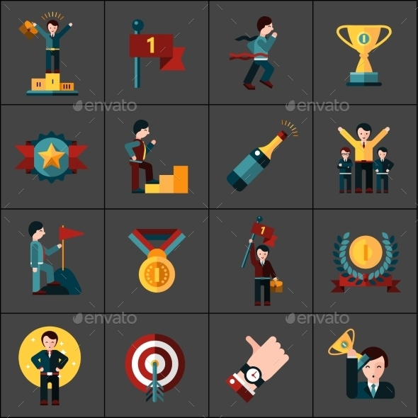 Success Icons Set - Business Icons