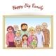 Happy Family Framed Portrait