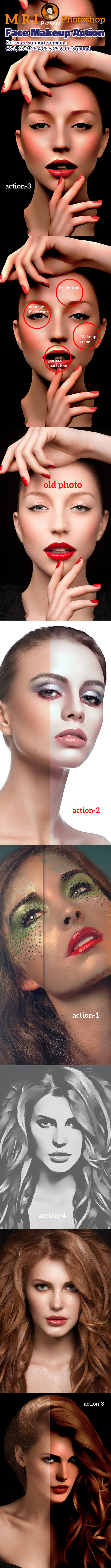 Face Makeup Action - Photo Effects Actions