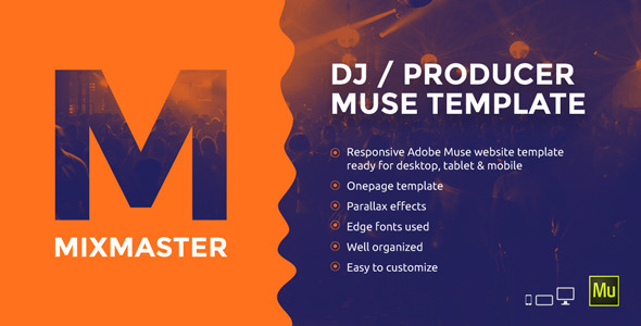 MixMaster – DJ / Producer Website Muse Template