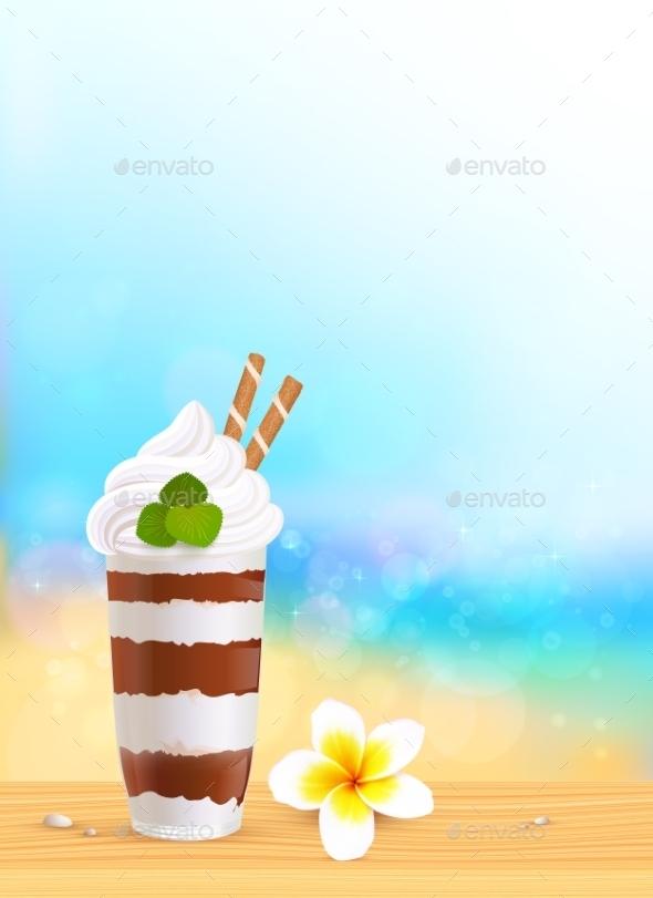 Chocolate Creamy Dessert - Travel Conceptual