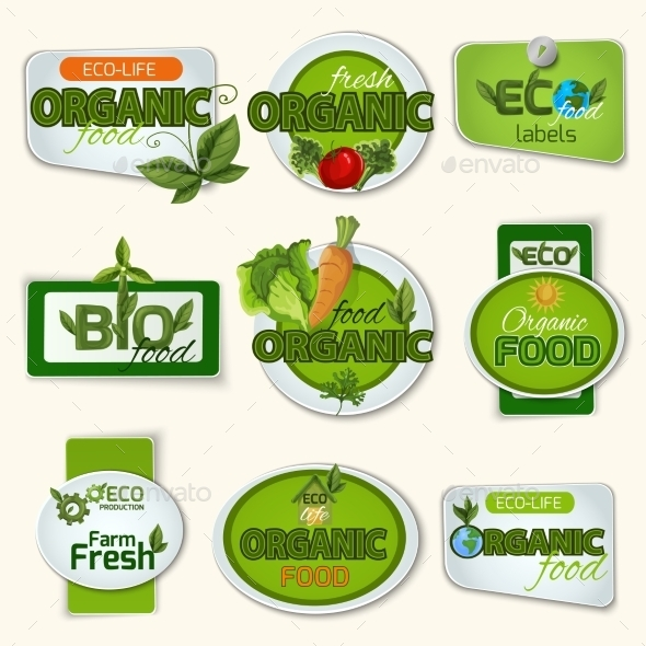 Bio Organic Life Badges  - Miscellaneous Vectors